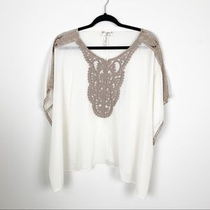 Sheer Light weight Embroidered Blouse